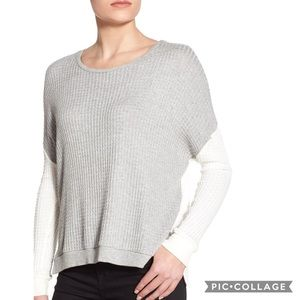 Velvet by graham & spencer waffle knit top size XS